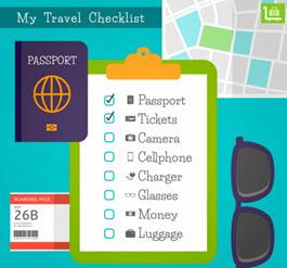 checklist de viajes